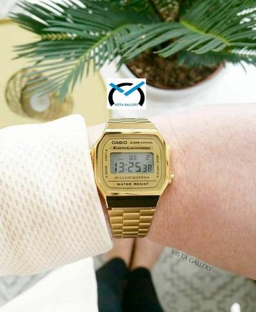 ساعت کاسیو casio مدل a168w gold