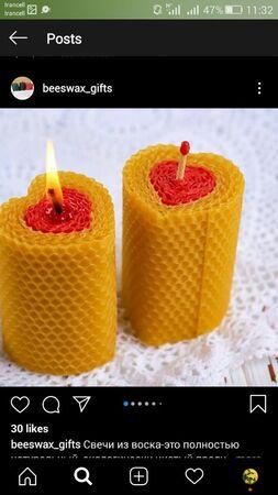 شمع بیزوکس موم عسل دو رنگ