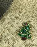 سنجاق سینه جواهر دوزی درخت کریسمس
