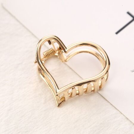 کلیپس فلزی کوچک طرح قلب