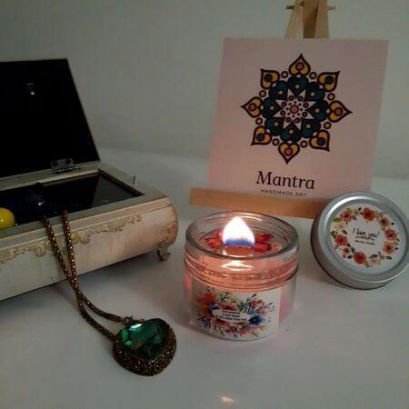 نمونه سوختن شمع شیشه ای معطر با فتیله چ