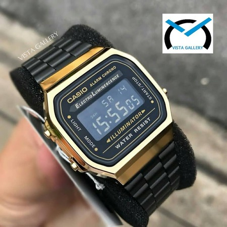 ساعت کاسیو casio مدل a168w blackgold
