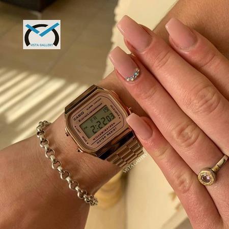 ساعت کاسیو casio مدل a168w rosegold
