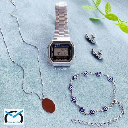 ساعت کاسیو casio وینتیج مدل a168w silver