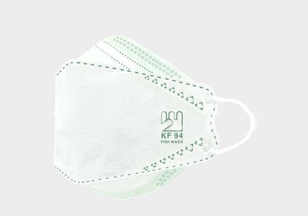 فست ماسک اصلی سه بعدی 25 عددی سبز kf94