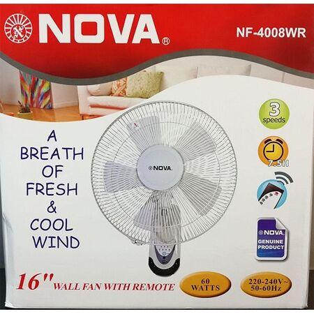 پنکه دیواری نوا NOVA مدل NF 4008WR
